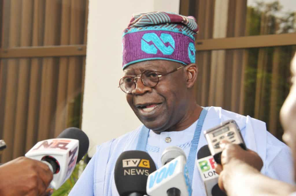 Pic 15. APC Chaieftain Chief Bola Tinubu briefing State House Correspondents 1 - Don't increase Value Added Tax – Tinubu appeals to FG