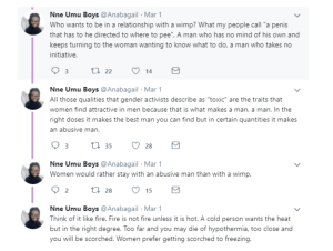 Screen Shot 2019 03 02 at 5.37.09 PM - A woman will be with an abusive man than a wimp – Nigerian writer