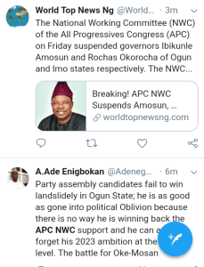 Screenshot 20190301 1606192 - 'Welcome To Next level' – Nigerians React to Suspension Of Amosun and Okorocha