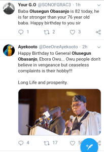 "Screenshot 20190305 1545492 - ""Chief Olusegun Obasanjo is Nigeria's most loved president till date"" – Nigerians celebrate Former president [See pictutes]"