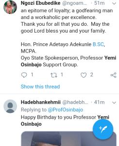 Screenshot 20190308 1207122 - 'Starboy is a year older' – Nigerians celebrate VP Yemi Osinbajo