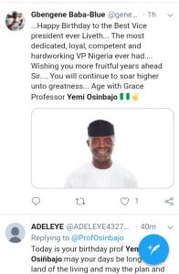 Screenshot 20190308 1207412 - 'Starboy is a year older' – Nigerians celebrate VP Yemi Osinbajo