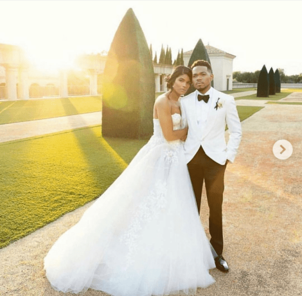 Screenshot 20190311 074720 1 768x753 - Chance The Rapper ties the knot with his longtime girlfriend Kirsten Corley (Photos)