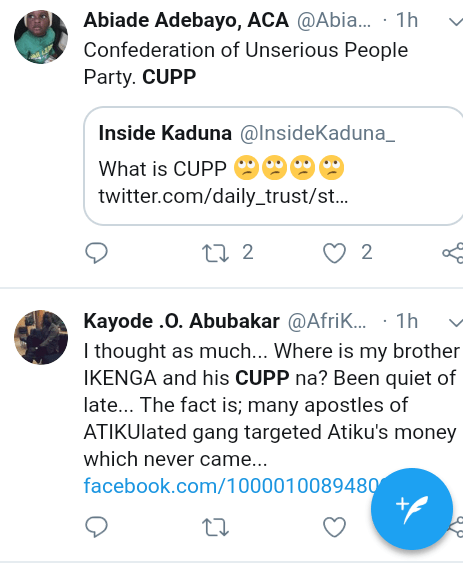 Screenshot 20190312 1044182 - See Nigerians reactions to CUPP's rejection of Kaduna governorship result