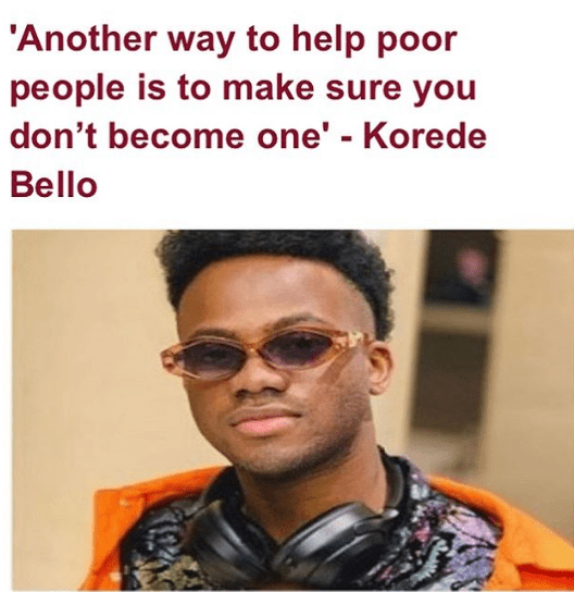a - Daddy Freeze reacts to Korede Bello's thoughts on poverty