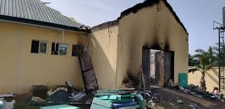 download 57 - Just in: INEC office wrecked by fire outbreak