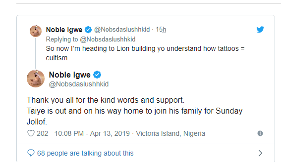 1 39 - Noble Igwe's tailor arrested by the police for doing this