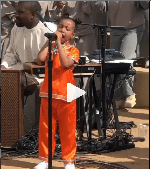 [Video]: North West steals the show at her father Kanye West' Sunday service