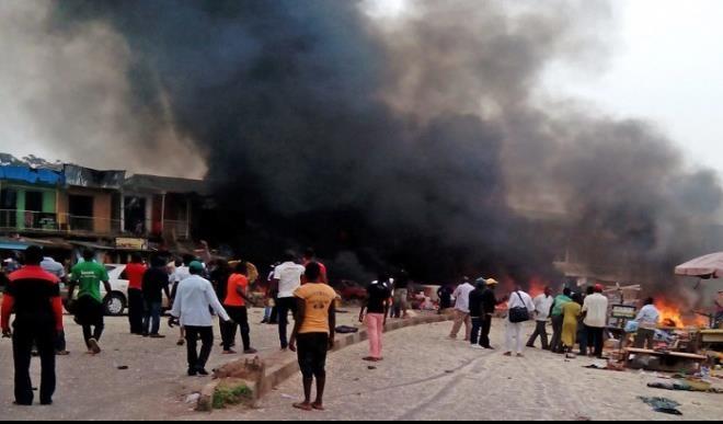 2017 10large Many dead as multiple bomb blasts hit Maiduguri - Breaking News: 5 left dead, many injured in Maiduguri's explosion