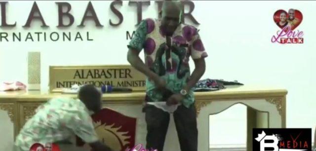 56CF9197 99E9 48D7 B075 E320E0B062E8 - [Photos]: Oh wow! Pastor rocks sexy female lingerie to church