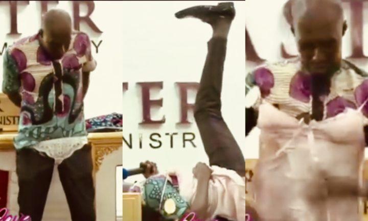 70F178FF 3305 44DA 9D0D A8035562143D - [Photos]: Oh wow! Pastor rocks sexy female lingerie to church
