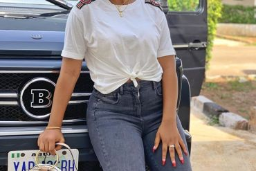 Social media breaks after Regina Daniels Shares photos of her new whip – See what Nigerians had to say