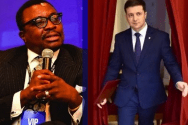 See how comedian Ali Baba reacted to a comedian becoming president of Ukriane