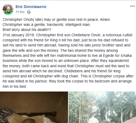 Man kills his dad for refusing to sell his land to sponsor him abroad - Heartless Man Kills His Father For Refusing To Sponsor Him Abroad