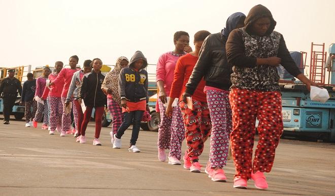 Nigerians returnees Libya 1 - Another 180 Nigerians Return From Libya