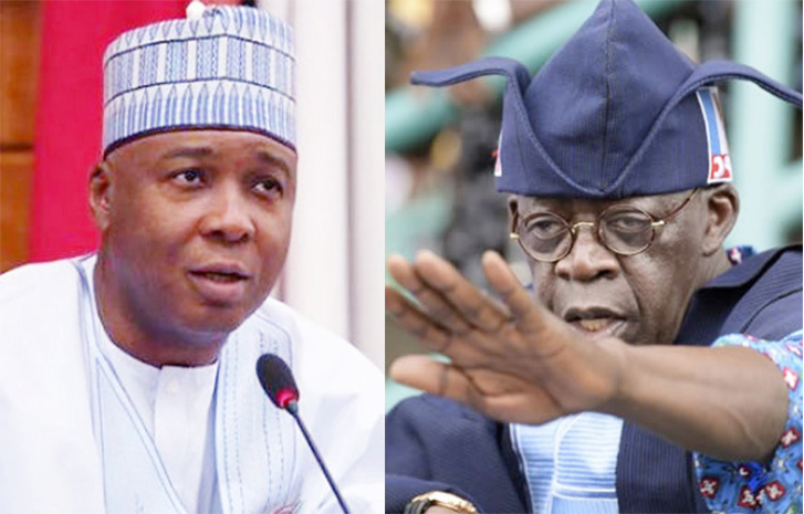 Saraki and Tinubu - 9th Senate: Nigerians React To Saraki's Advice To Tinubu