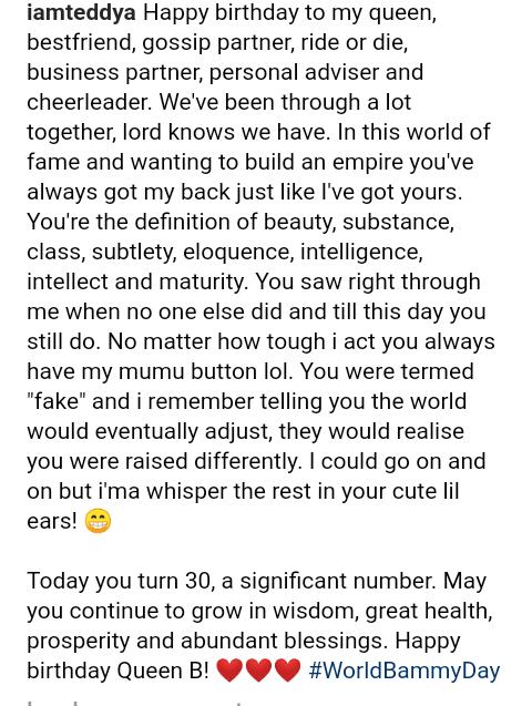 "Screenshot 20190423 1231362 - ""You Saw Right Through Me"" – TeddyA Celebrates BamBam on Her 30th Birthday"