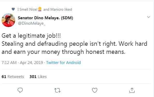 a7a7hhs - 'Get a legitimate job' – Dino Melaye advises youths against internet fraud