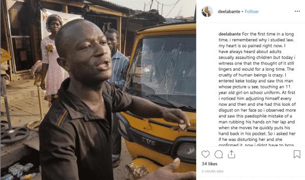 newffddd - Nigerian Man Caught Molesting Underage Girl Inside Keke Napep