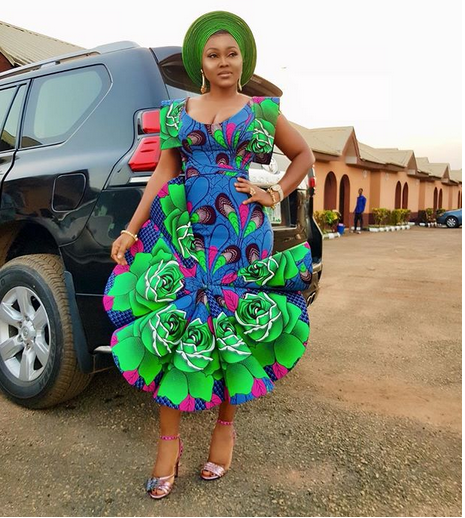 3 5 - Mide Martins, Mercy Aigbe, attend the burial ceremony of Biodun Okeowo's mum