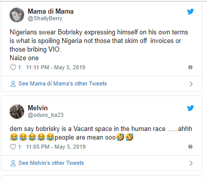 Nigerians drag Bobrisky after he shared photos of his installed boobs