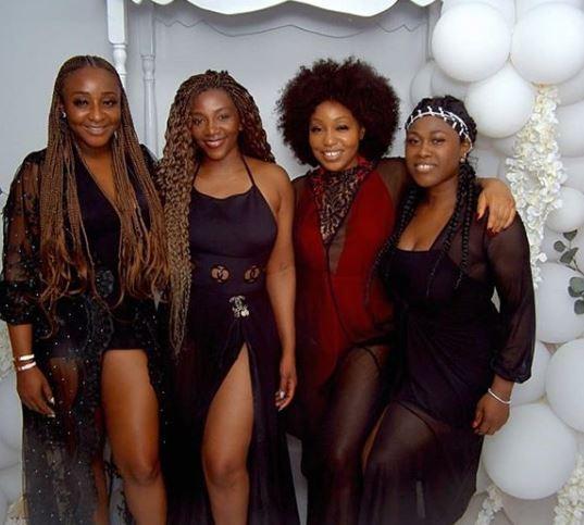 [Photos]: Genevieve Nnaji, Uche Jombo, Rita Dominic and Ini Edo looked every shade of stunning in new photo