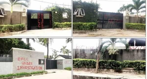 69E83870 1D38 4A03 8130 BF29BCC15F5A - [Photos]: EFCC seizes Bukola Saraki's houses in Lagos
