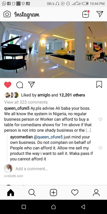9328130 screenshot20190505224442 jpegea96bffc0821011090ca4d20bf5f2d99 - Comedian, AY Tells Follower to Steer Clear of His Business