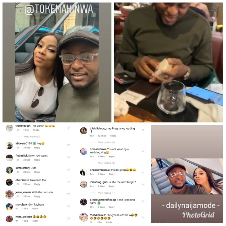 9337364 photogridlite1557217705991 jpeg2d655d4a312b8d87b1fd13415fe91916 - Love in the air? Ubi Franklin, Toke Makinwa spotted together in London