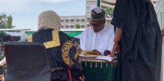 Why Buhari didn't give an inauguration speech