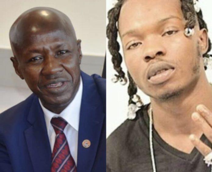 EFCC boss Ibrahim Magu speaks on Naira Marley's arrest
