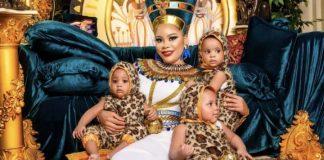 [Photos]: Fani Kayode's wife shares Egyptian themed photos from her birthday shoot