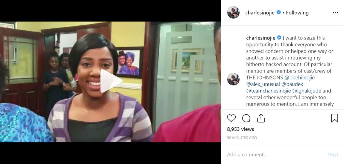 a5666665 - Nollywood Star, Charles Inojie Appreciate Fans for Help
