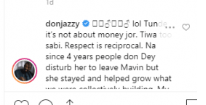 """don jazzy - """"Respect Is Reciprocal"""" – Don Jazzy Replies Tunde Ednut For Saying He Milked Tiwa Savage Dry Before Letting Her Go"""