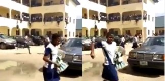 [Video]:SS2 students clash with SS3 students, use guns and teargases as weapons