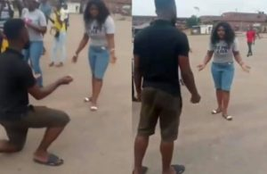 Video: Nigerian Man Beats Lady To Pulp For Saying No To His Marriage Proposal