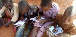 Students learning under inhumane condition