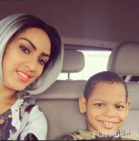 Juliet Ibrahim and her son, Jayden