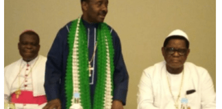 CAN President, Samson Ayokunle, middle
