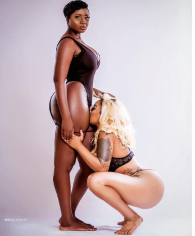 Toyin Lawani and Princess shingle