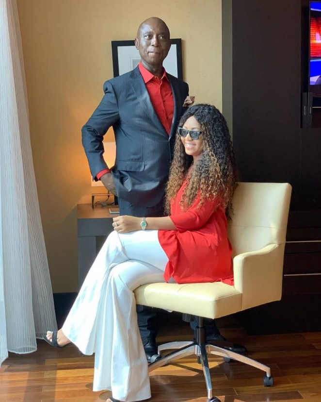 [Photos]: Regina Daniels And Ned Nwoko All Loved Up In New Pictures