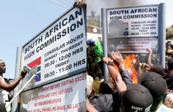Zambian Students Attack South African Embassy