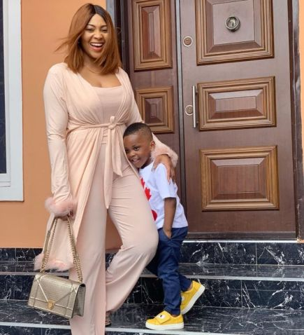 Lilian Esoro and her son