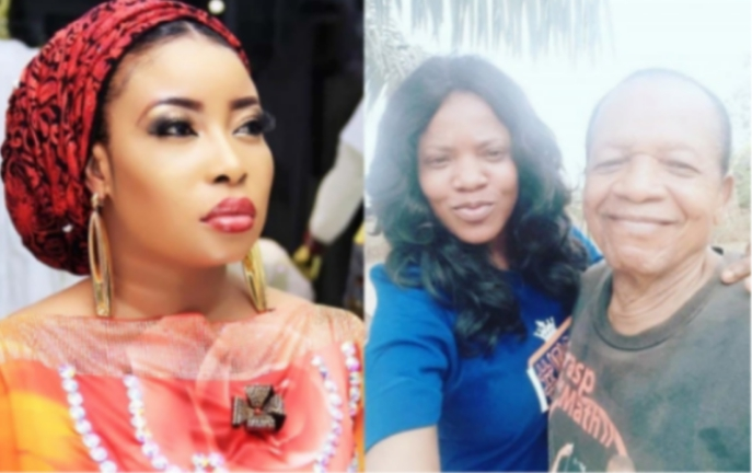 Lizzy Anjorin, Toyin Abraham and her father