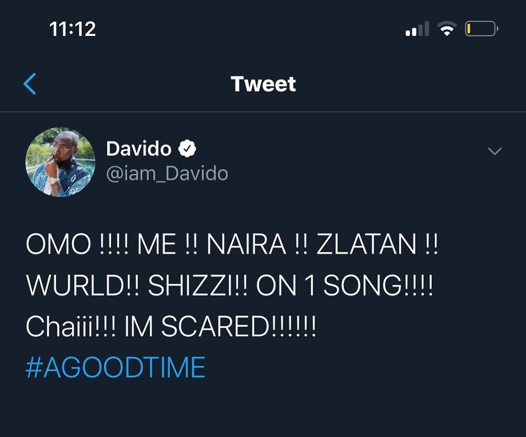 Davido Panics As He Options Zlatan Ibile, Wurld, Naira Marley, Shizzi In A Observe (Photograph)
