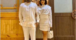 Actress Rosy Meurer, Olakunle Churchill Step Out In Matching Outfits