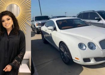 Bobrisky Announces Arrival Of Her Bentley (Photograph)