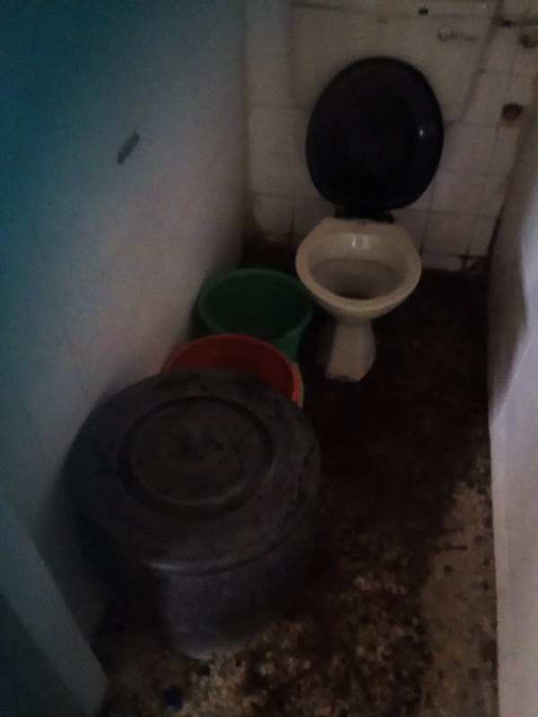 A toilet on the third floor of Ogun State Ministry of Environment. Photo credit: Gbenga Odunsi/Information Nigeria