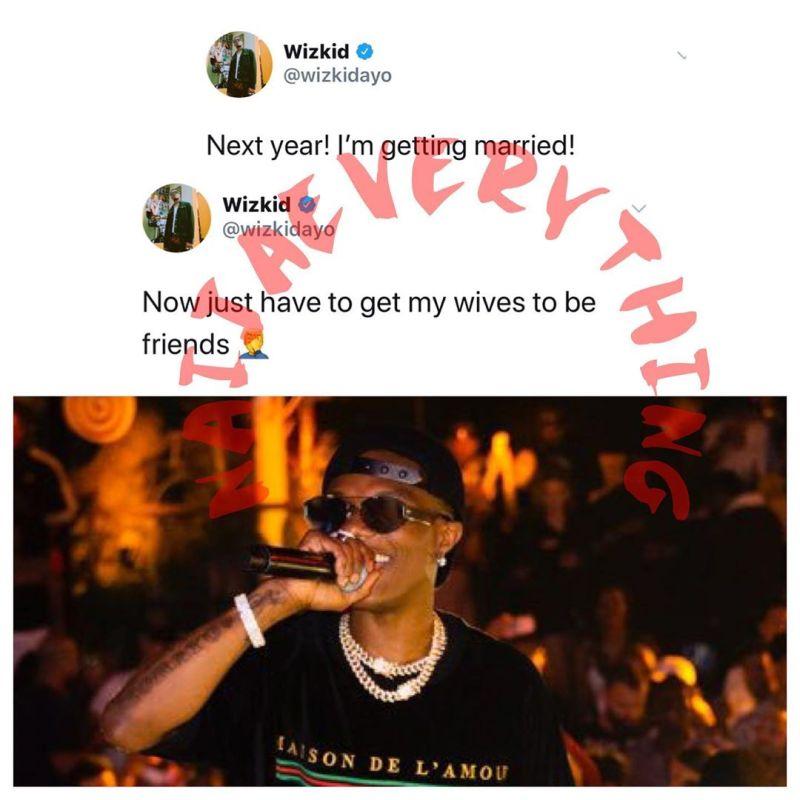 Wizkid's tweet