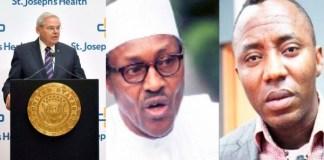 US Senator Menedez, Buhari and Sowore